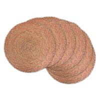 Design Imports Braided Variegated Placemats (Set of 6) in Red