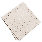 KAF Home Metallic Mini Dot Napkins in Gold (Set of 4)