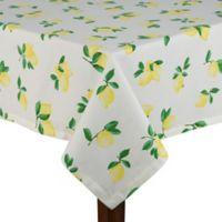kate spade new york Make Lemonade 60-Inch x 120-Inch Oblong Tablecloth
