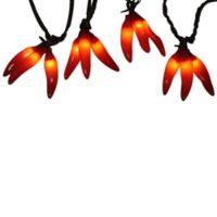 36-Light Red Chili Pepper Clusters Christmas Light Set