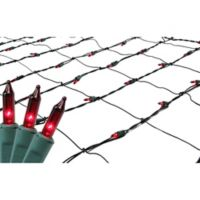 Northlight 4-Foot x 6-Foot Net Christmas Lights in Red