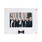 Pearhead Wedding Sentiments The Guys 4-Inch x 6-Inch Picture Frame in Black