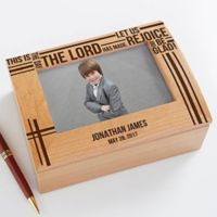 Faith in Prayer Photo Keepsake Box