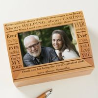 Definition of Dad Photo Keepsake Box