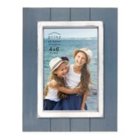 Prinz Coastal 4-Inch x 6-Inch Grooved Wood Plank Picture Frame in Blue