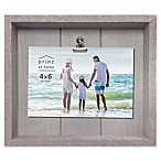 Prinz Coastal 4-Inch x 6-Inch Crate Clip Wood Plank Picture Frame in Grey