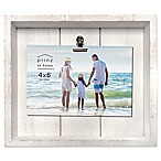 Prinz Coastal 4-Inch x 6-Inch Crate Clip Wood Plank Picture Frame in White