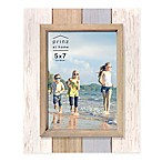 Prinz Coastal 5-Inch x 7-Inch Multicolor Wood Plank Picture Frame