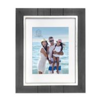 Prinz Coastal 8-Inch x 10-Inch Matted Grooved Wood Plank Picture Frame in Black