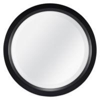 Round 13-Inch Beveled Accent Mirror in Black