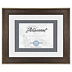 Double Matted 8.5-Inch x 11-Inch Document Wood Frame in Espresso