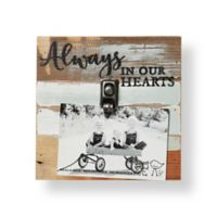 Sweet Bird & Co. Always In Our Hearts 8-Inch Square Reclaimed Wood Clip Frame