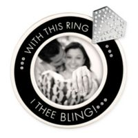 """Grasslands Road® """"With this Ring"""" Picture Frame in Black"""