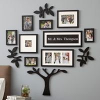 "WallVerbs™ 13-Piece ""Mr. & Mrs."" Tree Set in Black"