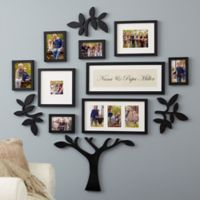 WallVerbs™ 13-Piece Grandparents Personalized Tree Set in Black