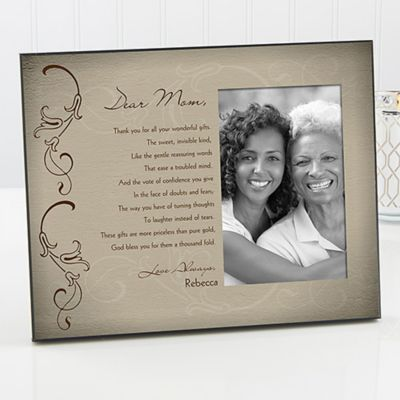 dear mom picture frame - Mother Picture Frame