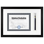 Gallery Wood Tassel 5.5-Inch x 11-Inch Document Frame in Black
