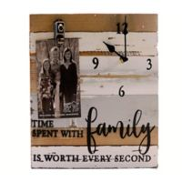 Sweet Bird & Co. Family 12-Inch x 12-Inch Wooden Clip Frame Clock