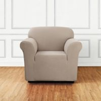 Sure Fit® Stretch Delicate Leaf Chair Cover in Tan