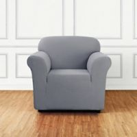 Sure Fit® Stretch Delicate Leaf Chair Cover in Mist