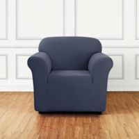 Sure Fit® Stretch Delicate Leaf Chair Cover in Storm Blue