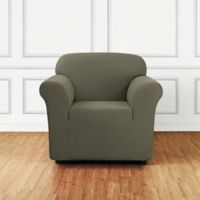 Sure Fit® Stretch Delicate Leaf Chair Cover in Sage