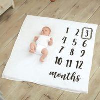 Mud Pie® Monthly Milestone Blanket in White