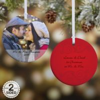 Photo Sentiments 2-Sided Glossy Christmas Ornament