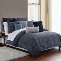 Highline Bedding Co. Jakarta King Comforter Set in Indigo