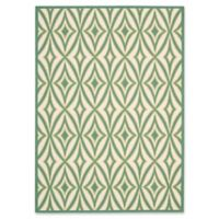 """Nourison Sun and Shade 5'3"""" x 7'5"""" Indoor/Outdoor Power-Loomed Area Rug in Green"""