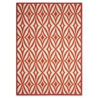 """Nourison Sun and Shade 5'3"""" x 7'5"""" Indoor/Outdoor Power-Loomed Area Rug in Red"""