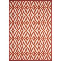 "Nourison Sun and Shade 7'9"" x 10""10"" Indoor/Outdoor Power-Loomed Area Rug in Red"