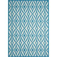 "Nourison Sun and Shade 7'9"" x 10""10"" Indoor/Outdoor Power-Loomed Area Rug in Blue"