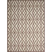 Nourison Sun and Shade 10' x 13' Indoor/Outdoor Power-Loomed Area Rug in Flint