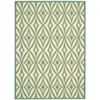 Nourison Sun and Shade 10' x 13' Indoor/Outdoor Power-Loomed Area Rug in Green