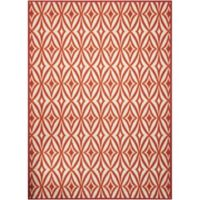 Nourison Sun and Shade 10' x 13' Indoor/Outdoor Power-Loomed Area Rug in Red
