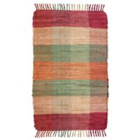 Park B. Smith Cotton Fringe 4-Foot 9-Inch x 7-Foot 11-Inch Area Rug in Plaid