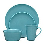 Noritake® Turquoise on Turquoise Swirl 4-Piece Coupe Place Setting