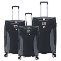 Chariot Madrid 3-Piece Expandable Luggage Set in Black