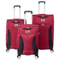 Chariot Madrid 3-Piece Expandable Luggage Set in Red