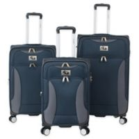 Chariot Madrid 3-Piece Expandable Luggage Set in Navy