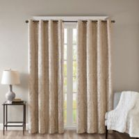 SunSmart Mirage Knitted 95-Inch Grommet Top 100% Blackout Window Curtain Panel in Champagne