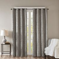 SunSmart Mirage Knitted 95-Inch Grommet Top 100% Blackout Window Curtain Panel in Charcoal