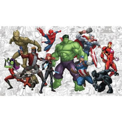 RoomMates® Marvel® Hero XL Chair Rail Pre Pasted Mural