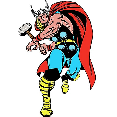 Super Heroes U003e RoomMates® Marvel® Classic Thor Peel And Stick Giant Wall  Decals