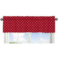 Sweet Jojo Designs Ladybug Polka Dot Window Valance in Red/White