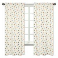 Sweet Jojo Designs Jungle Time Animal Print 84-Inch Window Panels (Set of 2)