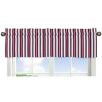 Sweet Jojo Designs Nautical Nights Stripe Print Window Valance