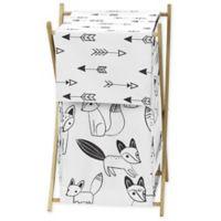 Sweet Jojo Designs Fox Laundry Hamper in Black/White