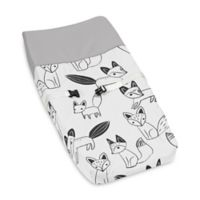 Sweet Jojo Designs Fox Changing Pad Cover in Black/White